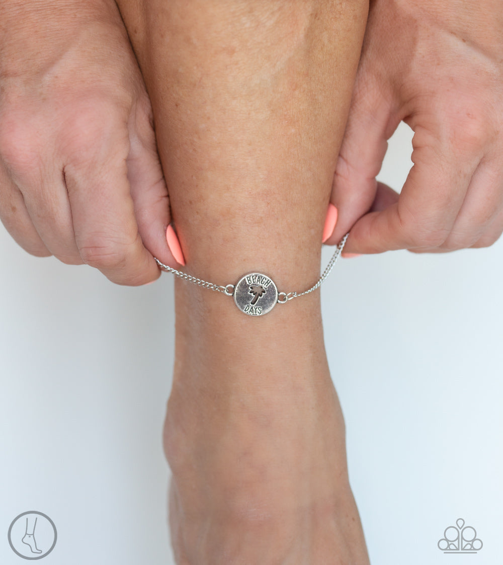 Paparazzi - Summer Shade - Silver Anklet - Classy Jewels by Linda