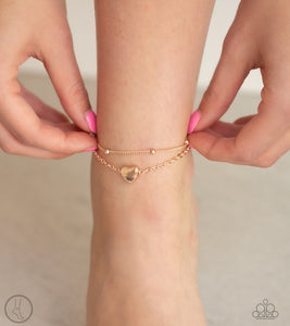 Paparazzi - Ocean Heart - Rose Gold Anklet - Classy Jewels by Linda