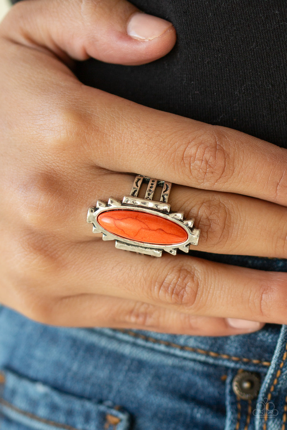 Paparazzi - Canyon Colada - Orange Ring - Classy Jewels by Linda