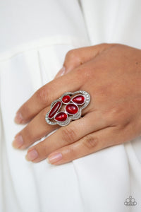 Paparazzi - Cherished Collection - Red Ring - Classy Jewels by Linda
