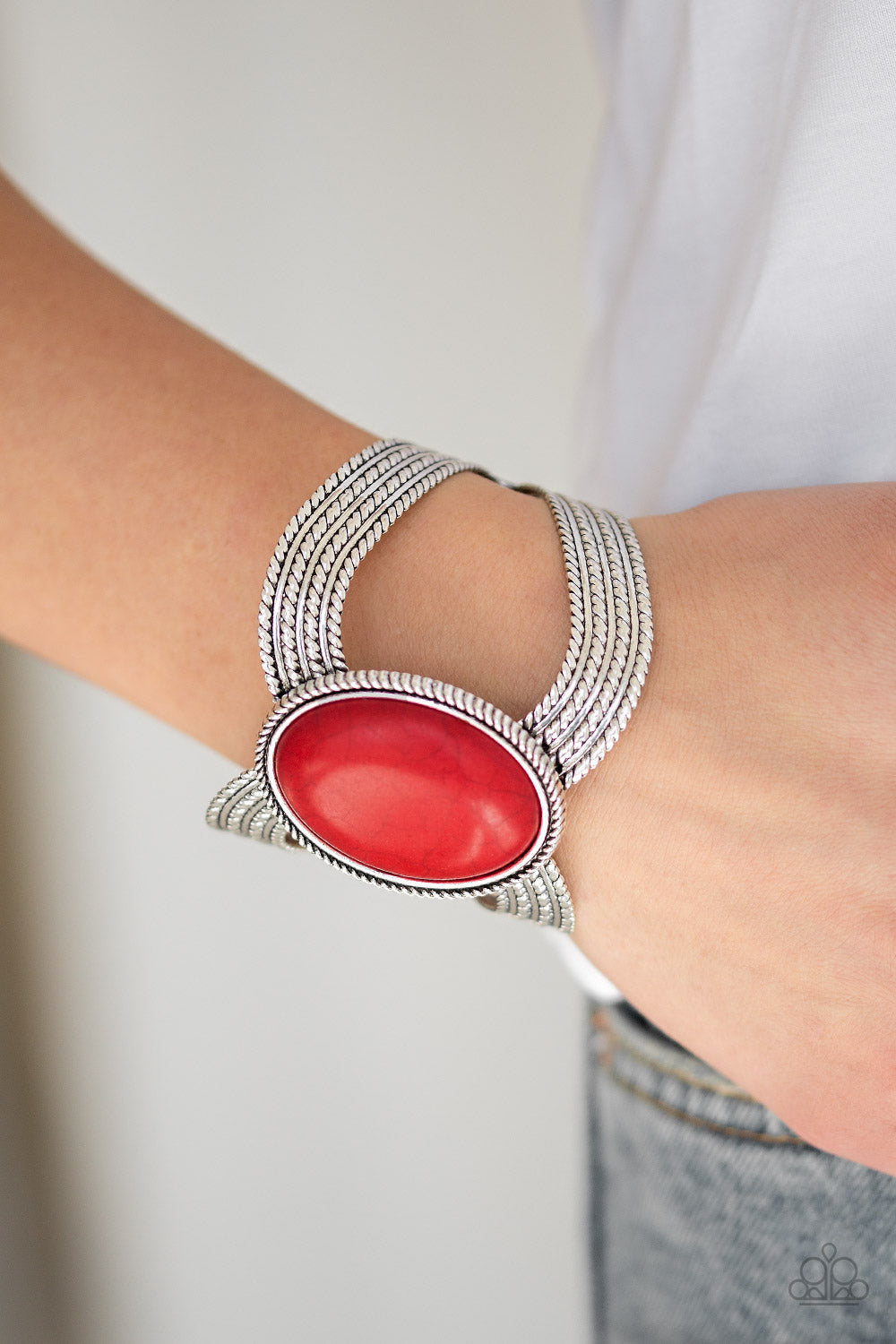 Paparazzi - Coyote Couture - Red Bracelet - Classy Jewels by Linda