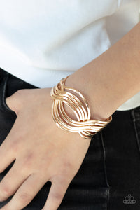Paparazzi - Curvaceous Curves - Gold Bracelet - Classy Jewels by Linda