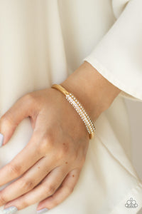 Paparazzi - Day to Day Dazzle - Gold Bracelet - Classy Jewels by Linda