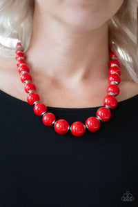 Paparazzi - Everyday Eye Candy - Red Necklace Set - Classy Jewels by Linda