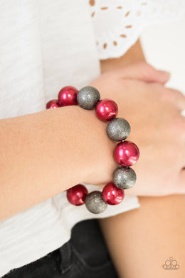 Paparazzi - Humble Hustle - Red Bracelet - Classy Jewels by Linda