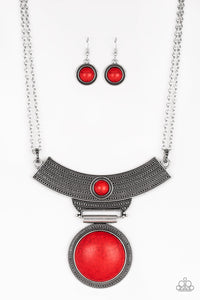 Paparazzi - Lasting EMPRESS-ions - Red Necklace - Classy Jewels by Linda