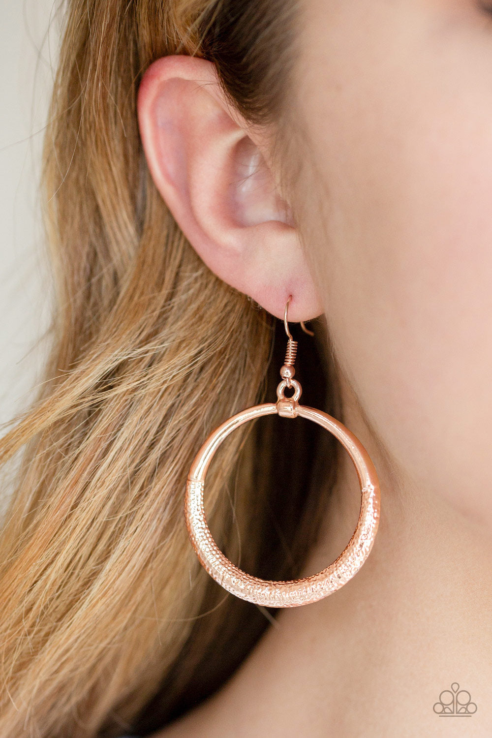 Paparazzi - Modern Shimmer - Rose Gold Earrings - Classy Jewels by Linda