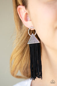 Paparazzi -   Oh My GIZA - Black Earrings - Classy Jewels by Linda