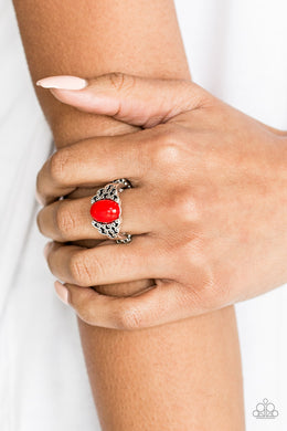 Paparazzi - Princess Problems - Red Ring - Classy Jewels by Linda