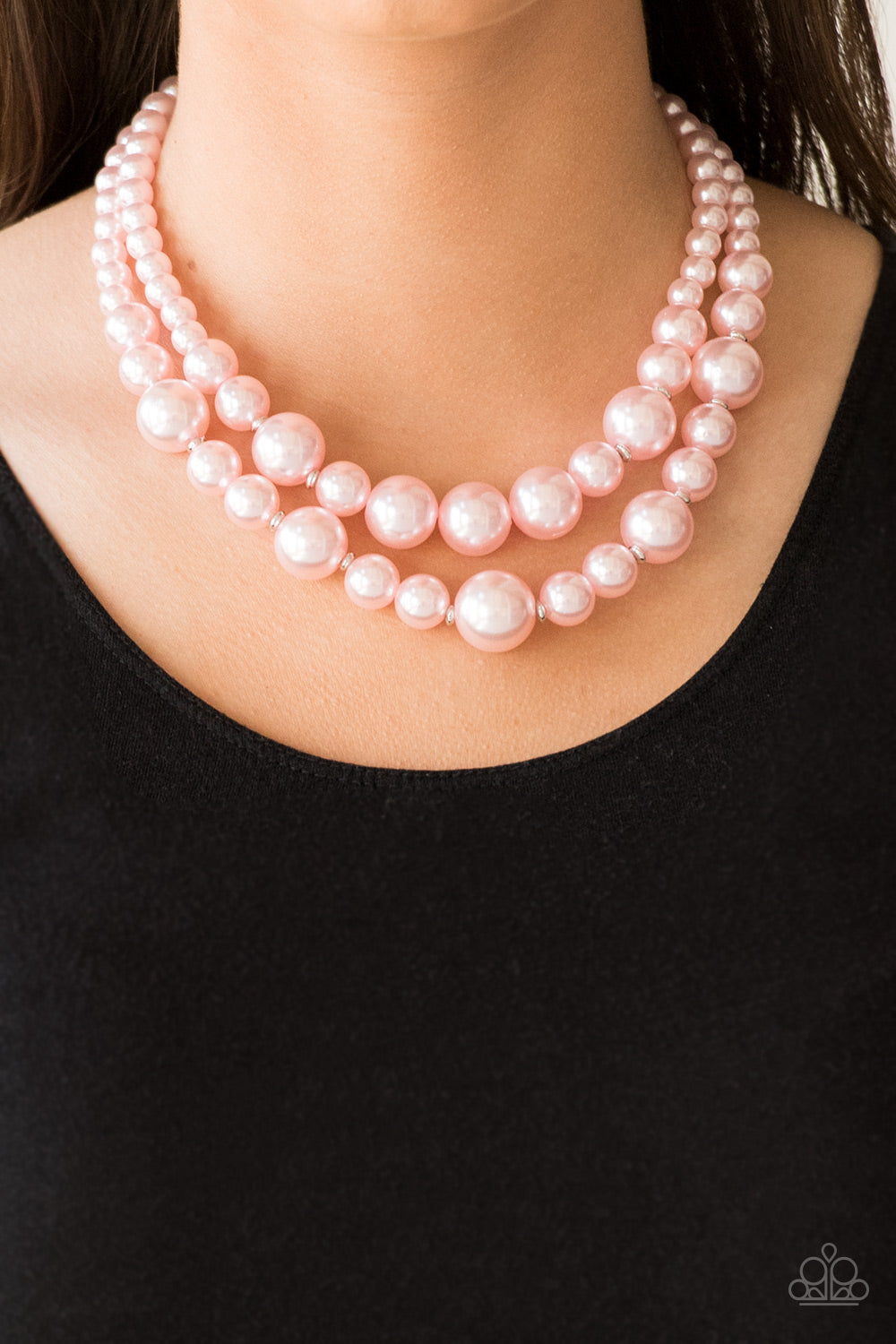 Paparazzi - The More The Modest - Pink Necklace Set - Classy Jewels by Linda