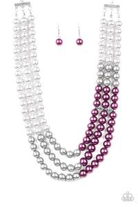 Paparazzi - Times Square Starlet - Purple Necklace Set - Classy Jewels by Linda