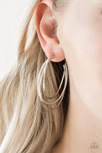 Load image into Gallery viewer, Paparazzi - Jumpin Through Hoops - Silver Earrings - Classy Jewels by Linda