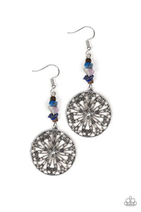 Paparazzi - Adobe Dweller - Blue Earrings - Classy Jewels by Linda
