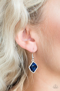 Paparazzi - Glow It Up - Blue Earrings - Classy Jewels by Linda