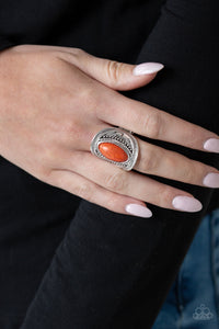 Paparazzi - Ground RULER - Orange Ring - Classy Jewels by Linda
