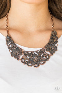 Paparazzi - Petunia Paradise - Copper Necklace Set - Classy Jewels by Linda