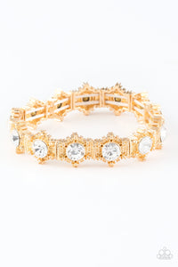 Paparazzi - Strut Your Stuff - Gold Bracelet - Classy Jewels by Linda