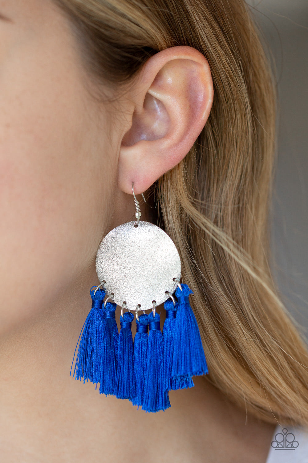 Paparazzi - Tassel Tribute - Blue Earrings - Classy Jewels by Linda