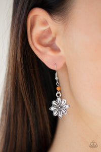 Paparazzi - Cactus Blossom - Orange Earrings - Classy Jewels by Linda
