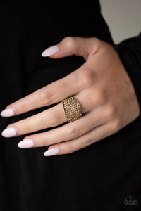 Paparazzi -   Kaboom! - Brass Ring - Classy Jewels by Linda