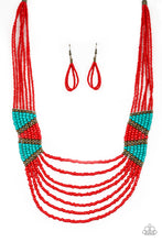 Load image into Gallery viewer, Paparazzi - Kickin It Outback - Red Seed Beads Necklace Set - Classy Jewels by Linda