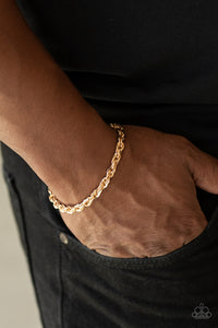 Paparazzi - Last Lap - Gold Mens Bracelet - Classy Jewels by Linda