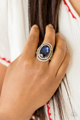 Paparazzi - Making History - Blue Ring - Classy Jewels by Linda