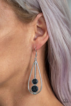Load image into Gallery viewer, Paparazzi - Natural Nova - Black Earrings - Classy Jewels by Linda