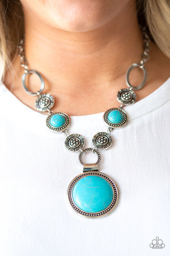 Paparazzi - Sedona Drama - Blue Necklace Set - Classy Jewels by Linda
