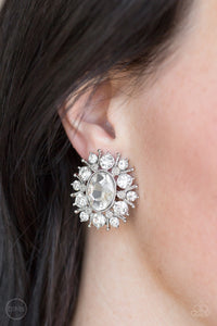 Paparazzi - Serious Star Power - White Earrings - Classy Jewels by Linda