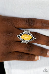 Paparazzi - Summer Sandstone - Yellow Ring - Classy Jewels by Linda