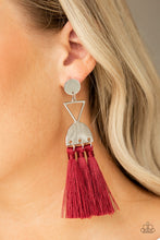 Load image into Gallery viewer, Paparazzi - Tassel Trippin - Red Earrings - Classy Jewels by Linda