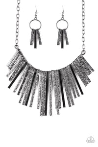 Paparazzi - Welcome To The Pack - Black Necklace Set - Classy Jewels by Linda