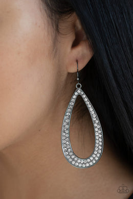 Paparazzi - Diamond Distraction - Black Earrings - Classy Jewels by Linda