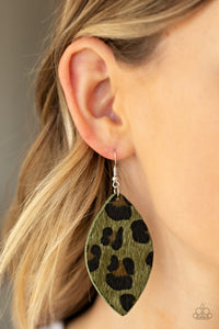 Paparazzi - GRR-irl Power! - Green Earrings - Classy Jewels by Linda
