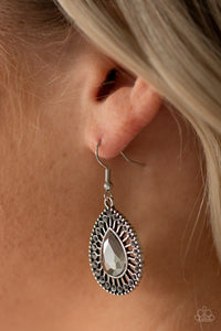 Paparazzi - Limo Service - Silver Earrings - Classy Jewels by Linda