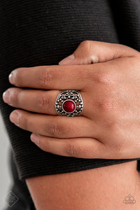 Paparazzi - On An Adventure - Red Ring - Classy Jewels by Linda