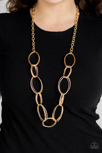 Paparazzi - Ring Bling - Gold Necklace Set - Classy Jewels by Linda