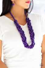 Load image into Gallery viewer, Paparazzi - Tahiti Tropic - Purple Wood Necklace Set - Classy Jewels by Linda