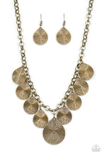 Load image into Gallery viewer, Paparazzi - Texture Storm - Brass Necklace Set - Classy Jewels by Linda