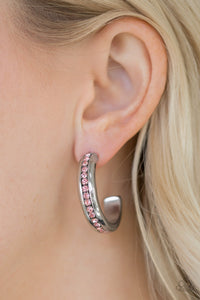 Paparazzi - 5th Avenue Fashionista - Pink Earrings - Classy Jewels by Linda