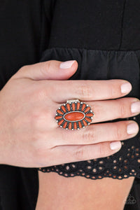 Paparazzi - Cactus Cabana - Orange Ring - Classy Jewels by Linda