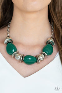 Paparazzi - Vivid Vibes - Green Necklace Set - Classy Jewels by Linda