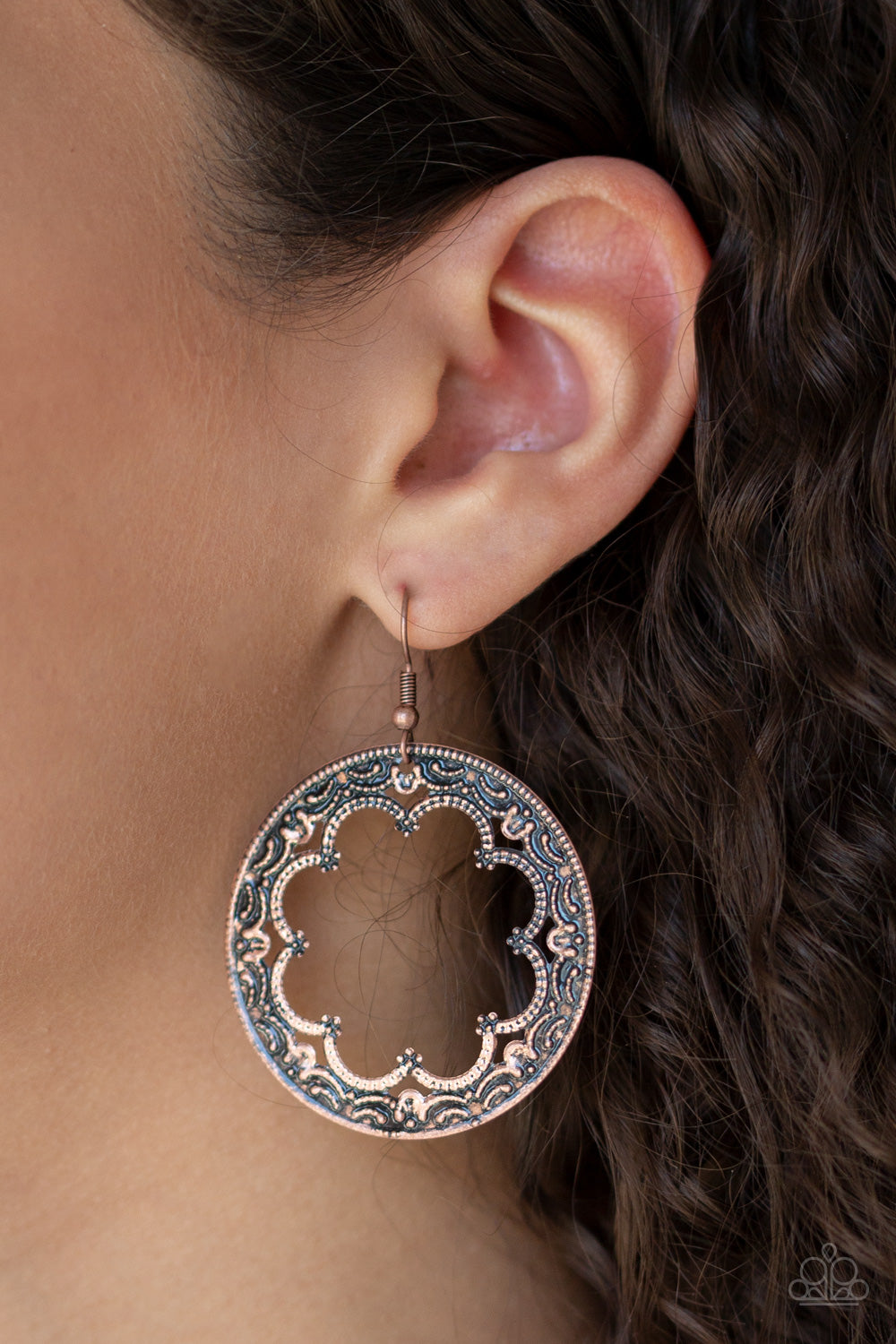 Paparazzi - Whimsical Wheelhouse - Copper Earrings - Classy Jewels by Linda