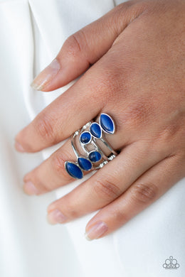 Paparazzi - Wraparound Radiance - Blue Ring - Classy Jewels by Linda