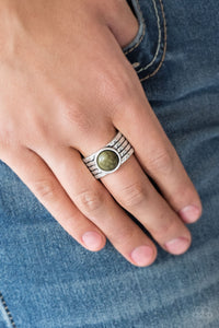 Paparazzi - Blooming Badlands - Green Ring - Classy Jewels by Linda