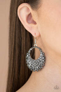 Paparazzi - Fierce Flash - Silver Earrings - Classy Jewels by Linda