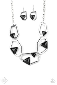 Paparazzi - GEO-ing, GEO-ing, Gone!  Silver Necklace Set - Classy Jewels by Linda