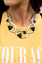 Load image into Gallery viewer, Paparazzi - GEO-ing, GEO-ing, Gone!  Silver Necklace Set - Classy Jewels by Linda