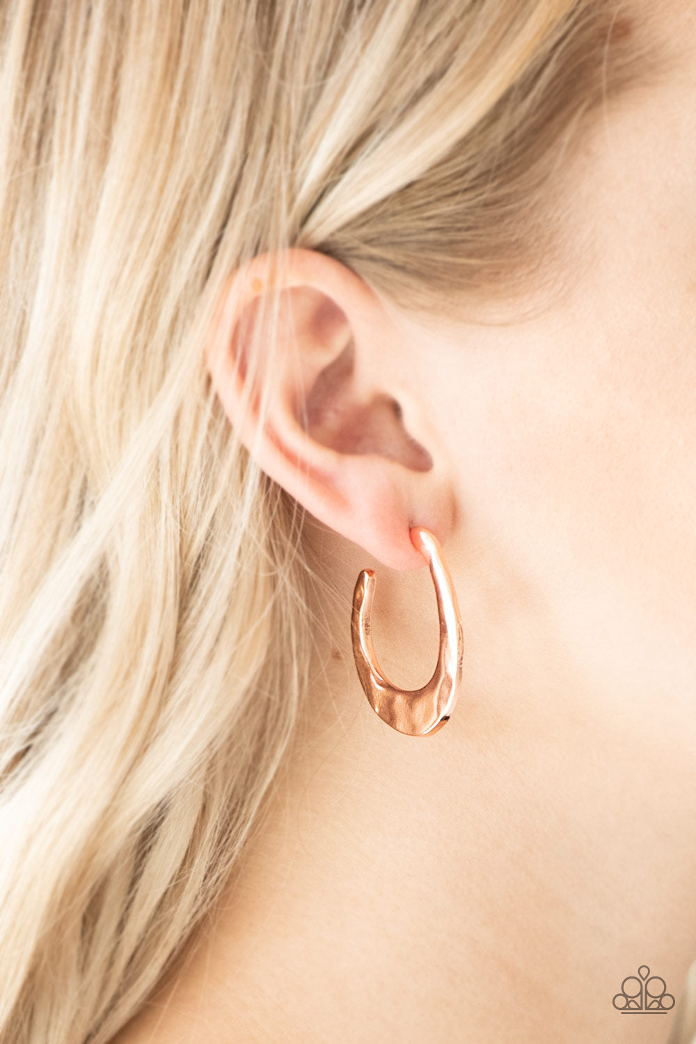 Paparazzi - HOOP Me UP! - Copper Earrings - Classy Jewels by Linda